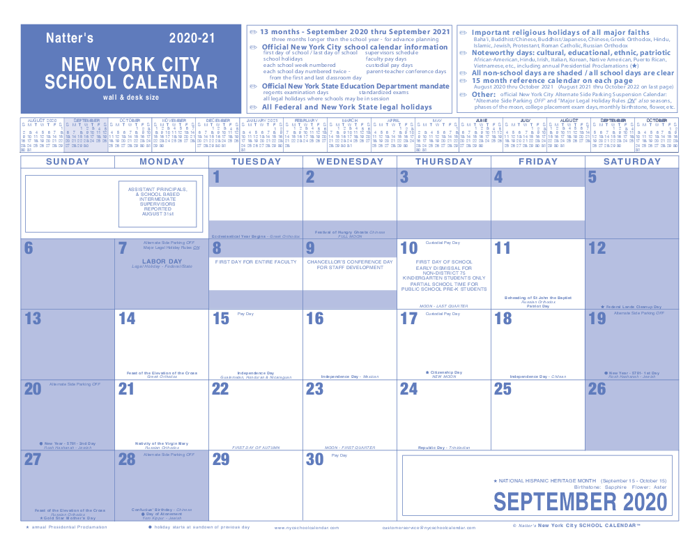 NYC School Calendar - New York City Public School Calendar