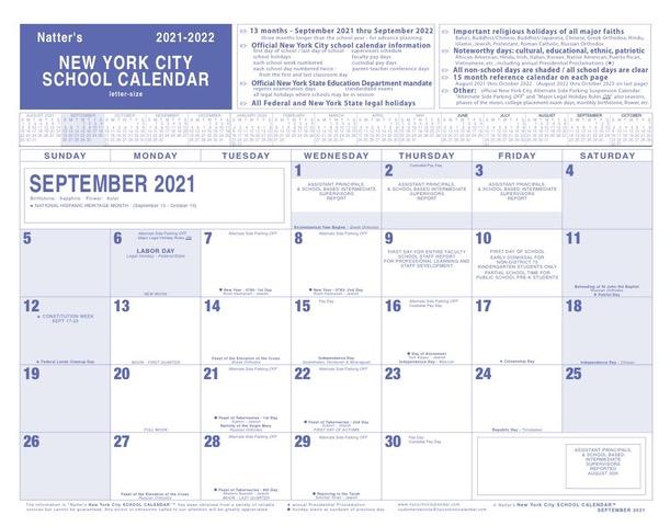 Alternate Side Parking Calendar Nyc 2022.Nyc School Calendar New York City Public School Calendar